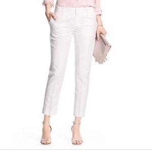 BANANA REPUBLIC | Hampton Fit Linen Crop Pants
